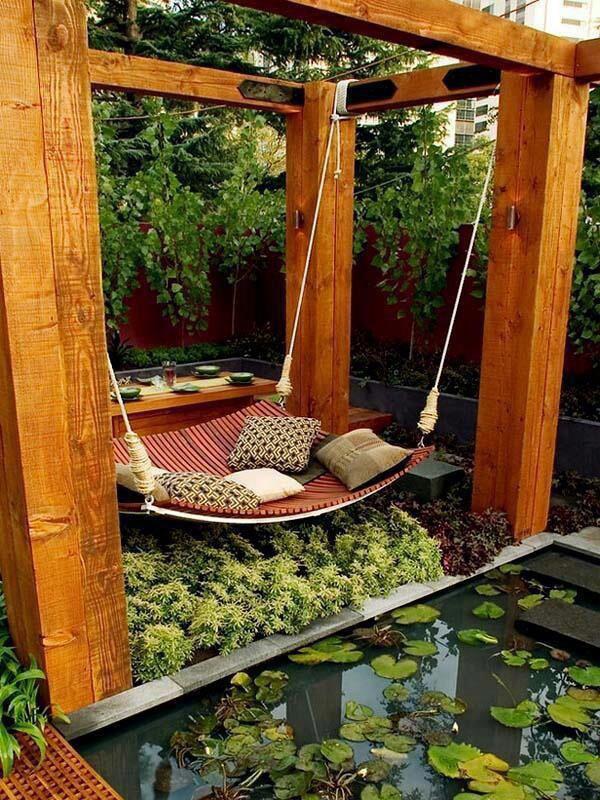 Baloiços e cadeiras - baloiço jardim zen