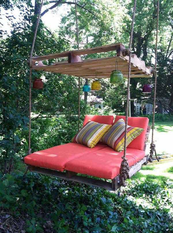 Baloiços e cadeiras - baloiço cama suspensa