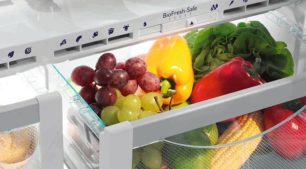 Conservar legumes e vegetais, frigorífico com regulador de humidade