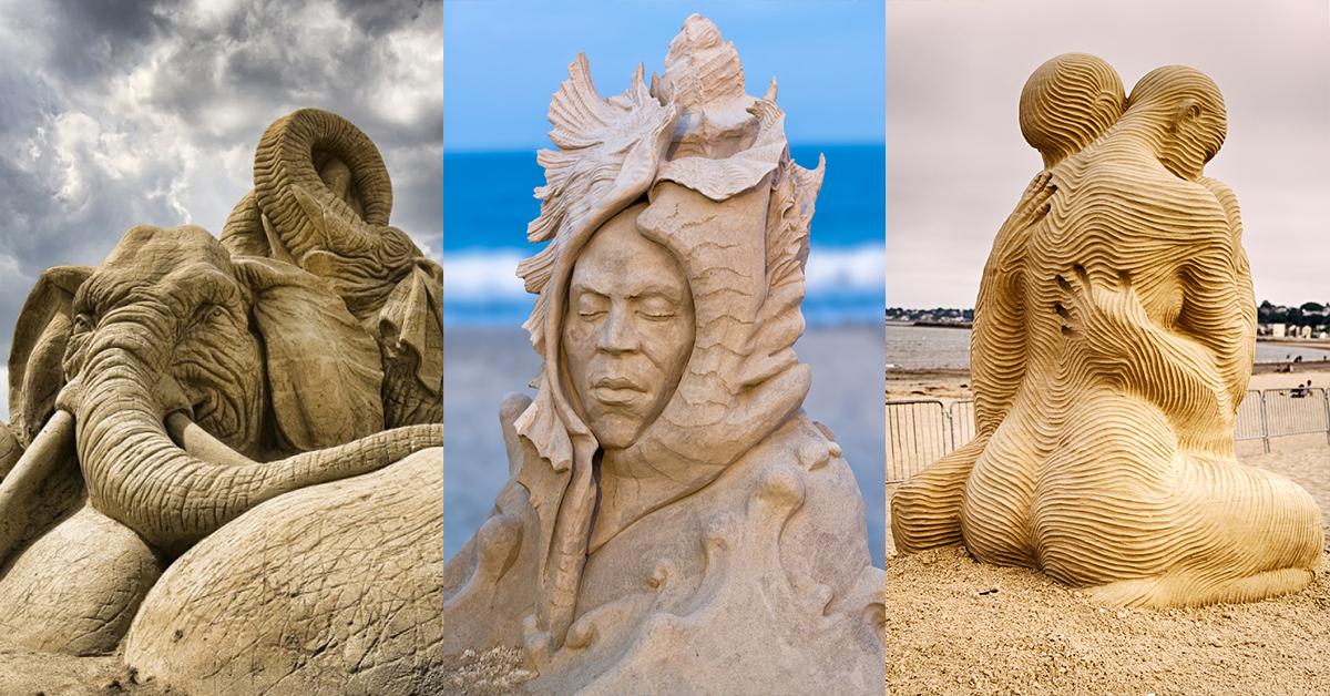 10 esculturas de areia inacreditáveis