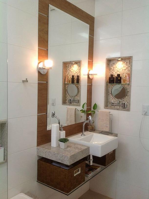 Espelhos decorativos na casa de banho