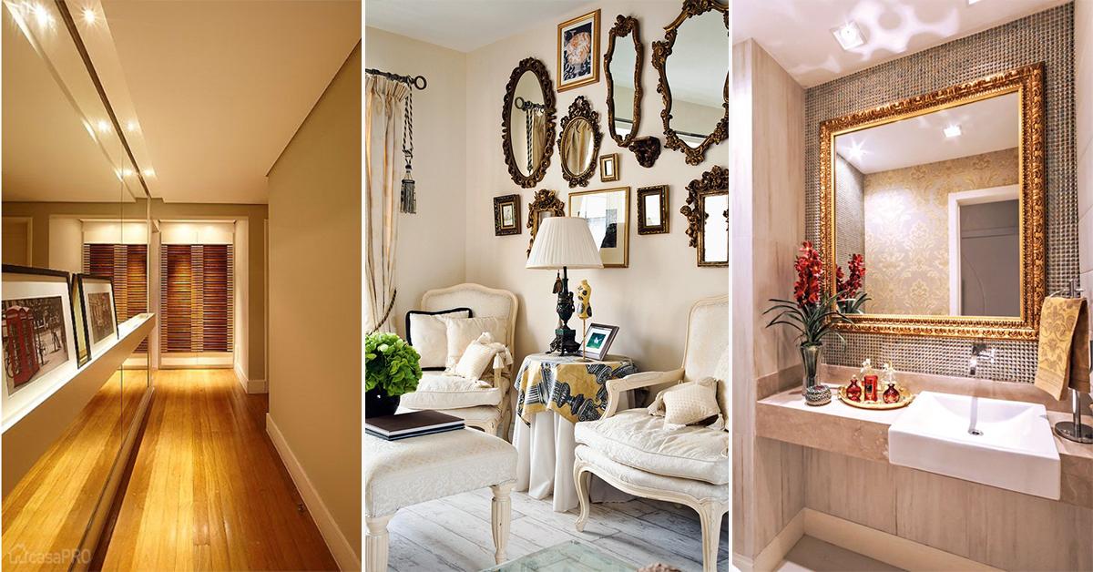 Espelhos decorativos – 9 dicas brilhantes para sua casa