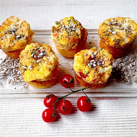 Receita de muffins de ovo fiambre e queijo, por Luísa Fortes da Cunha
