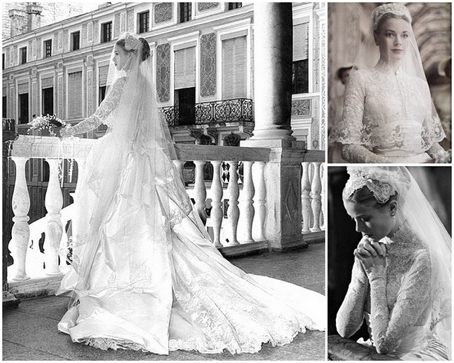 Vestidos de noiva de sonho, vestido da Princesa Grace Kelly, Mónaco.