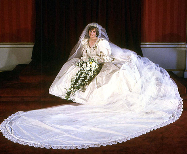 Vestidos de noiva de sonho, vestido da Princesa Diana, Reino Unido