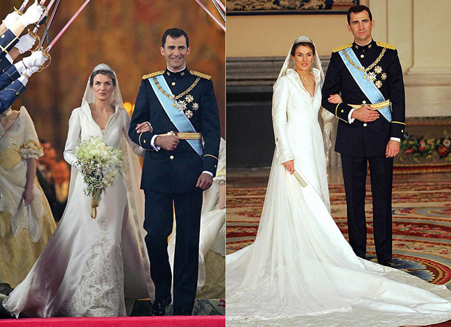 Vestidos de noiva de sonho, vestido da Princesa Letizia (Espanha)