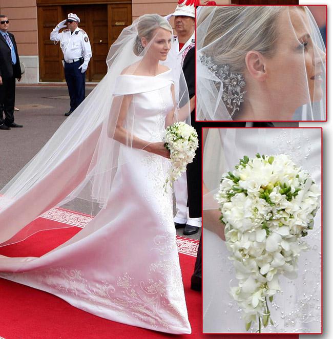 Vestidos de noiva de sonho, vestido da Princesa Charlene (Mónaco)