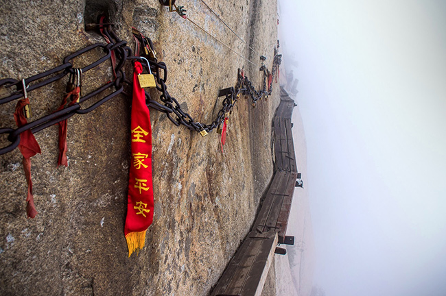 Os caminhos mais perigosos do mundo - Monte Huashan, China