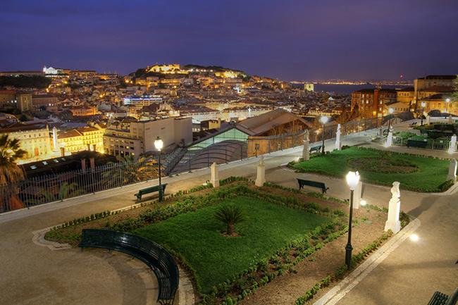 Os mais belos miradouros portugueses - Miradouro de São Pedro de Alcântara, Lisboa