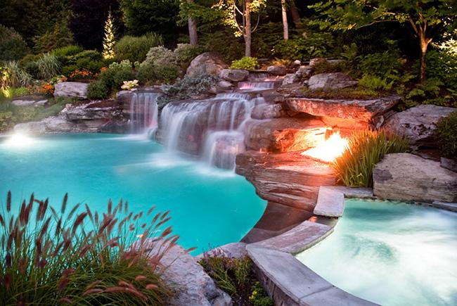 Piscinas de sonho - piscina cascata