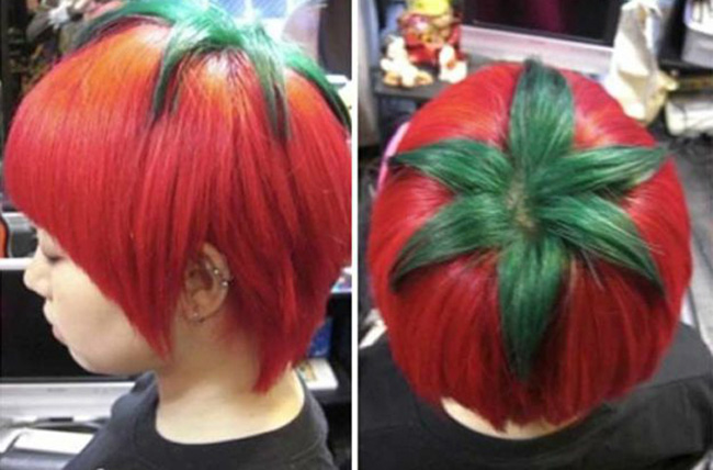 Penteados de deixar os cabelos em pé - penteado tomate