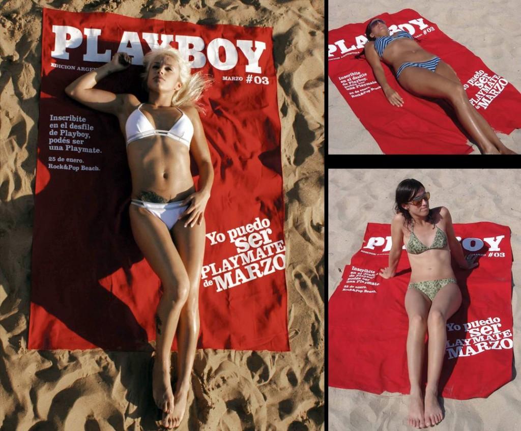 Toalhas de praia que não passam despercebidas - Toalha Playboy