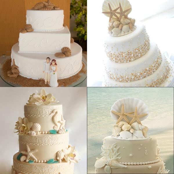 Casamentos na praia - bolo de noiva original