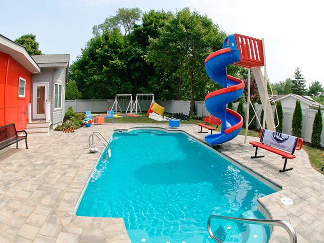 Piscinas de sonho - piscina com escorrega