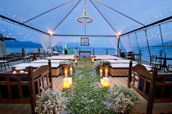 Casamentos na praia - tenda aberta