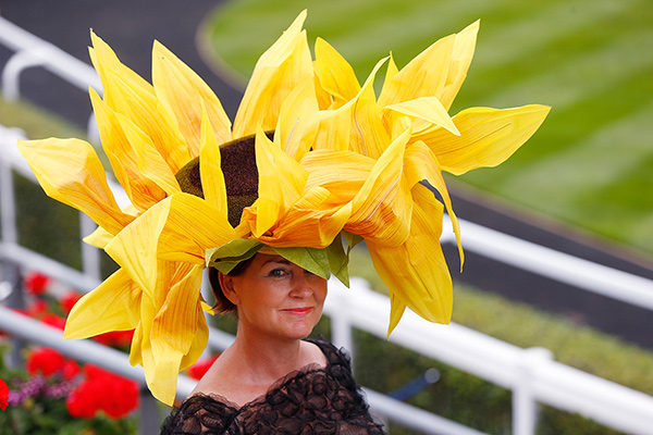 Chapéus loucamente originais - chapéu girassol