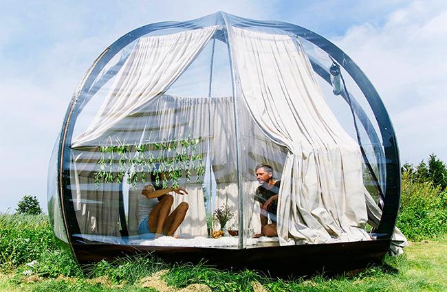 Tendas fenomenais para um verão inesquecível - tenda minimalista
