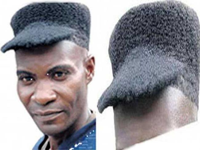 Penteados de deixar os cabelos em pé - penteado boné