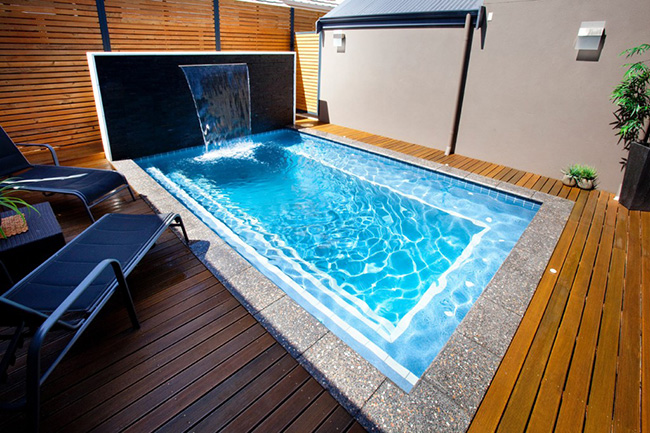 Piscinas de sonho - piscina com queda de água