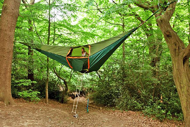 Tendas fenomenais para um verão inesquecível - tenda suspensa