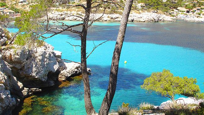 As águas mais cristalinas - 10 locais de sonho - Calanque de Sormiou, França