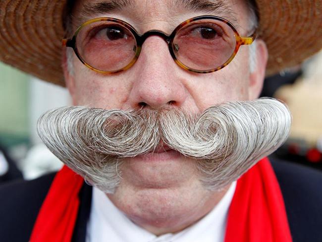 Bigodes de impor respeito - bigode bem penteado