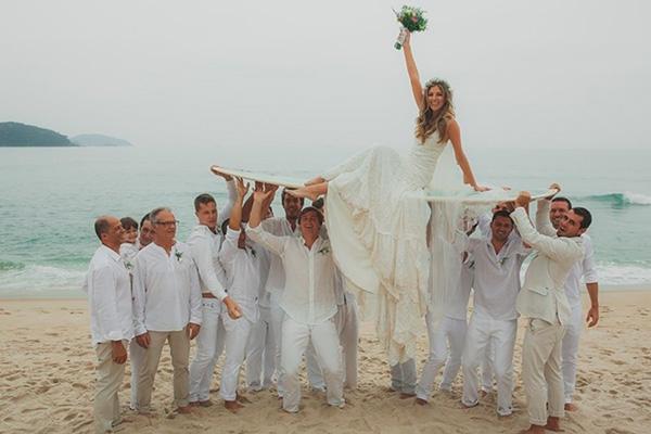 Casamentos na praia - roupas leves e descontraídas