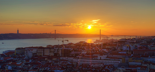 Os mais fantásticos pores do sol de Portugal - Lisboa