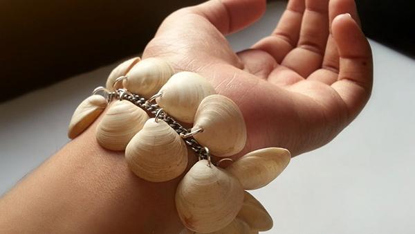 Decoração sem custos - pulseira de conchas e búzios