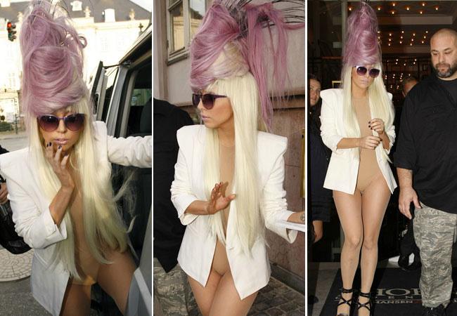 Penteados de deixar os cabelos em pé - Lady Gaga
