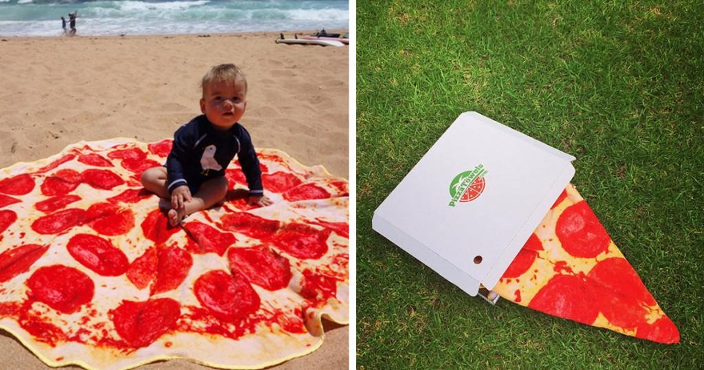 Toalhas de praia que não passam despercebidas - Toalha pizza