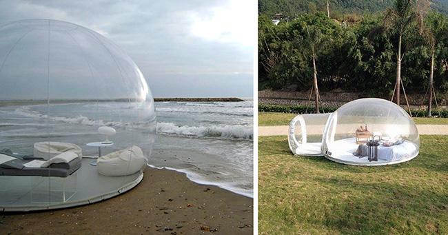 Tendas fenomenais para um verão inesquecível - tenda bolha insuflável