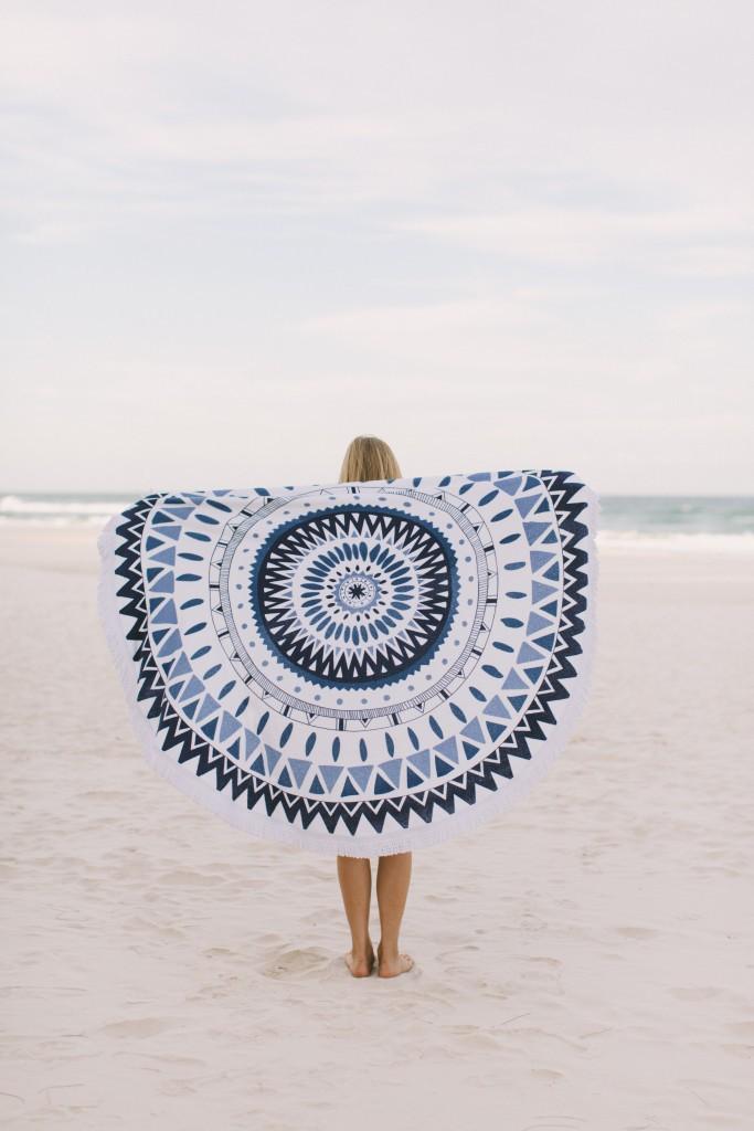 Toalhas de praia que não passam despercebidas - Toalha redonda