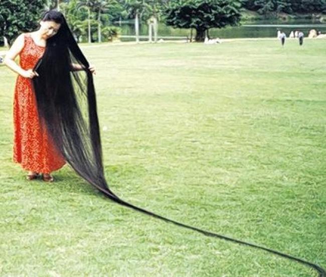 Os maiores do mundo: maior cabelo do mundo - Xie Qiuping