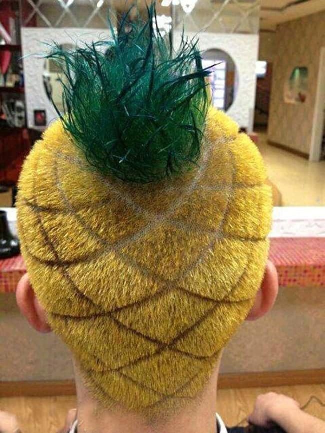 Penteados de deixar os cabelos em pé - penteado abacaxi