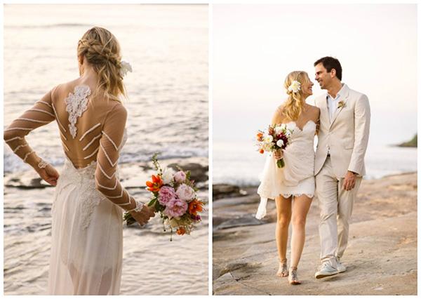 Casamentos na praia - vestido de noiva leve e esvoaçante