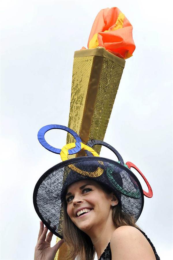Chapéus loucamente originais - homenagem aos Jogos Olímpicos