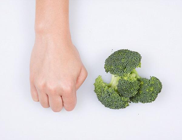 Nutrição - as quantidades ideais de cada alimento - bróculos