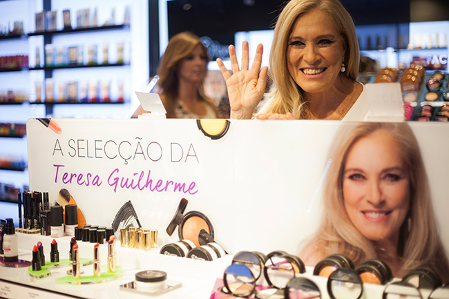 Teresa Guilherme - flormar, dia de lançamento da linha de cosméticos