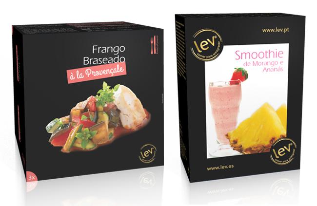 Dieta Lev - Frango braseado à la Provençale e Smoothie de Morango e Ananás