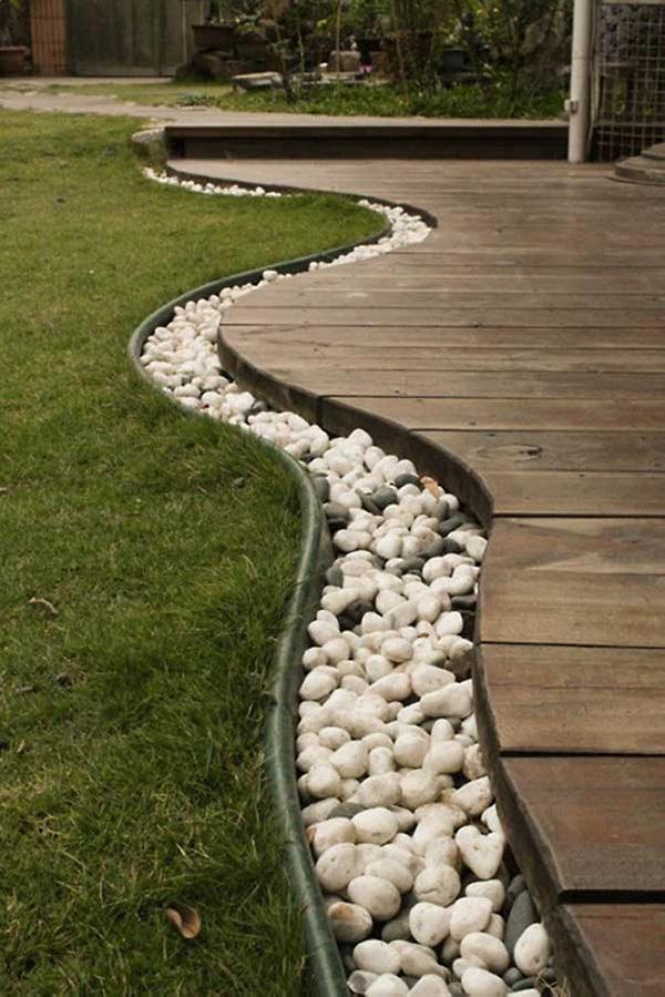 Decoração com Pedras e Seixos, 11 ideias sem custos - no jardim