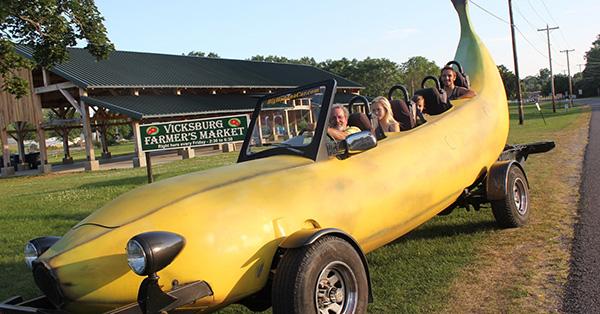 Carros completamente loucos - Carro banana
