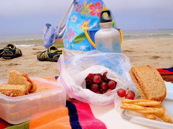 Dicas para um dia de praia perfeito - Prepare mantimentos