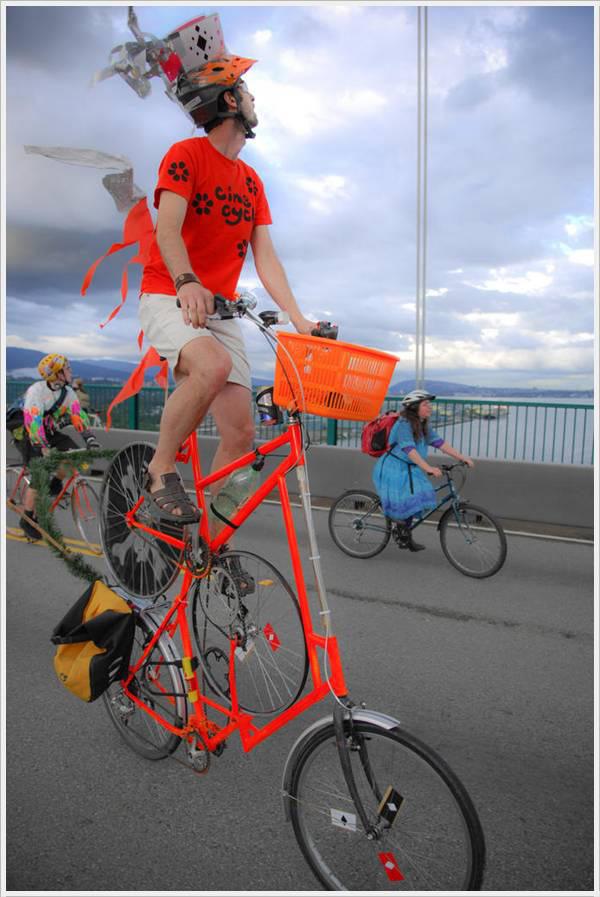 Bicicletes surpreendentes - bicicleta de dois andares