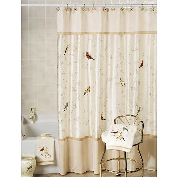 Tenha uma casa de banho mais bonita - cortina de banho romântica