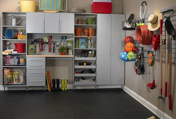 Garagens e arrecadações - dicas de arrumação: resultado final, tudo arrumado!