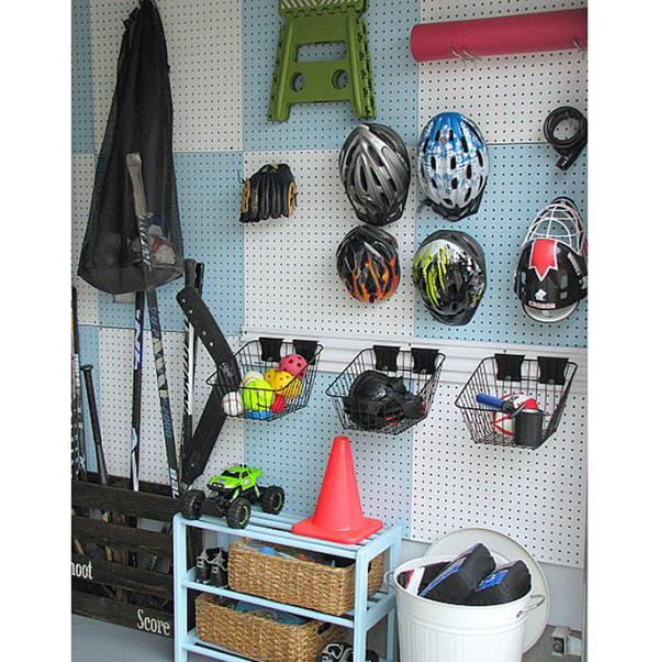 Garagens e arrecadações - dicas de arrumação: pegboards / placas perfuradas