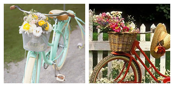 Bicicletas surpreendentes - bicicleta com cesto de flores