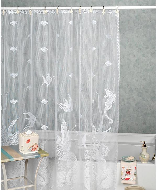 Tenha uma casa de banho mais bonita - cortinas de banho em crochê