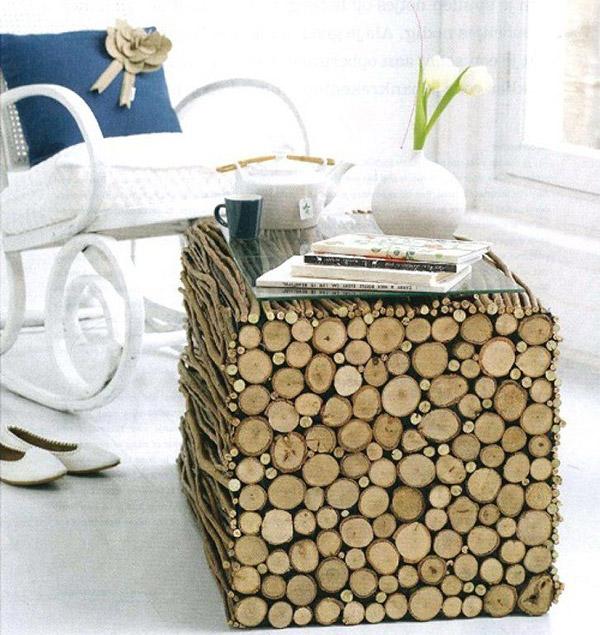 Dicas de decoração e bricolage em madeira - mesa de centro